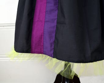 Maleficent Mistress of All Evil Black Purple and Berry Character Bounding Skirt in Regular and Plus Sizes 2-32+