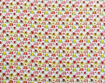 """Decorative Cotton Fabric, Elephant Print, Home Decor Fabric 43"""" Wide Quilting Fabric By The Yard ZBC8970A"""