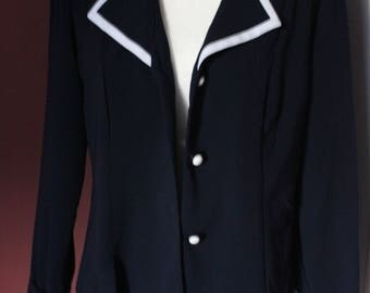 Vintage Perceptions New York Navy Blue Sailor Jacket