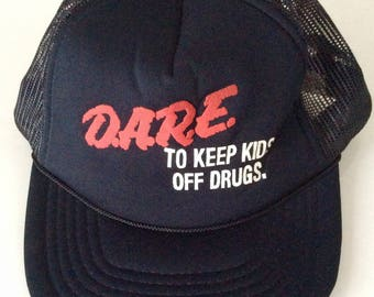 1980s D.A.R.E. To Keep Kids Off Drugs Vintage Snapback