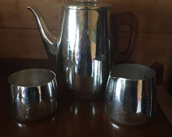 Retro Silver Coffee Pot Set