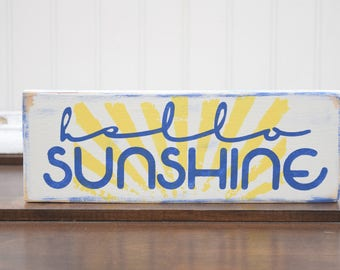 Wall Art, Hello Sunshine, Summer home decor, Rustic Home Decor