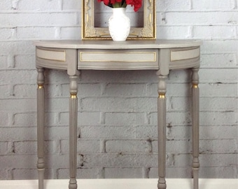 Half Moon Hall Table /Console Table/ French Console Table/Telephone Table