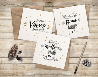 Pack 3 greeting cards