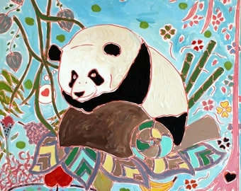 Panda Time - Acrylic Painting