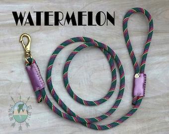 CUSTOM Watermelon Leash || Rock Climbing Rope Dog Leash || Handmade in the USA