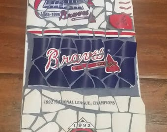 "Atlanta Braves ""Fan"" - Mosaic from recycled materials"