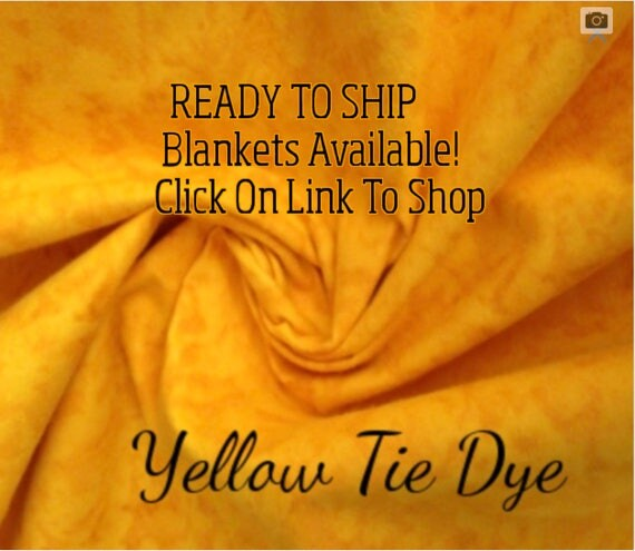 Solid Color, Weighted Blanket, Yellow Tie Dye, Up to Twin Size 3 to 15 Pounds.  SPD, Autism, Weighted Blanket.