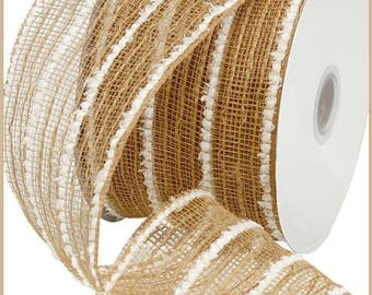 RIBBON - Wired Ribbon - Poly Mesh - Jute Mesh - Floral - Deco Mesh  - Wreath - RY710118