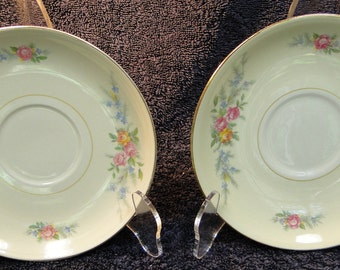 TWO HLC Eggshell Nautilus Ferndale Saucers Set of 2 EXCELLENT!