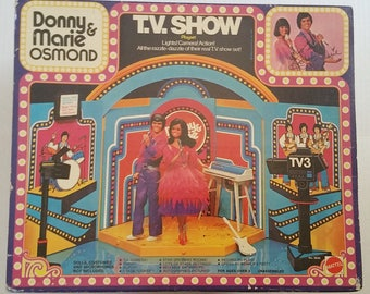 DONNY & MARIE OSMOND Show Stage Playset New 1976 Mattel Nrfb Collectable 70s Tv Memoranilia Donny Osmond Mormon Interest Rare