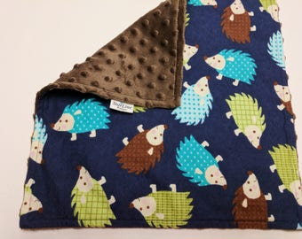 Hedgehog Lovey, Hedgehog Baby Shower, Woodland Baby Shower, Hedgehog Nursery Gift, Woodland Lovey, Woodland Lovie, Woodland Security Blanket
