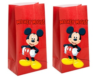 Mickey mouse Party Favor Bags~ mickey mouse birthday party Inspired Decorations & Decor
