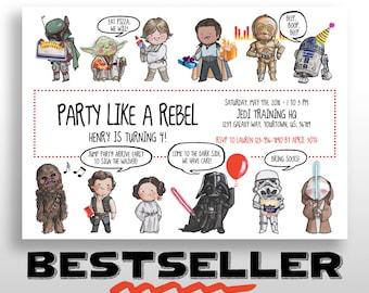 Star Wars Birthday Invitation, EDITABLE & PRINTABLE PDF, Star Wars Birthday Party Invite, Instant digital download, diy