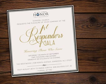 """Formal Gala/ Banquet/Corporate Party Invitation 5x5""""(Customizable)"""