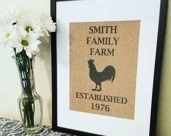 Life is better on the farm, burlap sign, rooster, kitchen decor, family farm, farm animals, farm life, Barn, Home decor, Country living