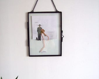 Collage frame glass