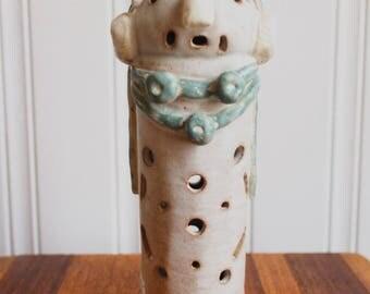 ceramic totem candle lantern