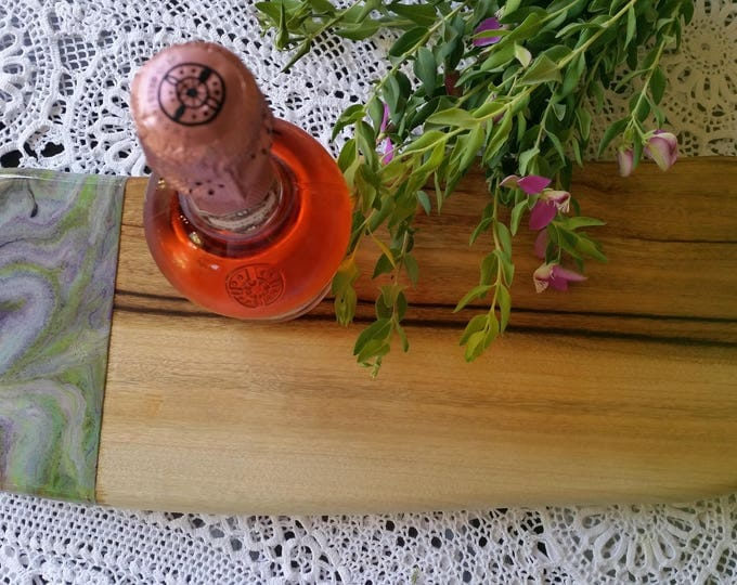 SOLD - Wooden cheese board customised with original artwork