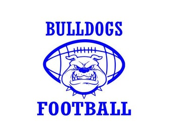 Bulldogs Football high school college SVG File Cutting, DXF, EPS design, cutting files for Silhouette Studio and Cricut Design space