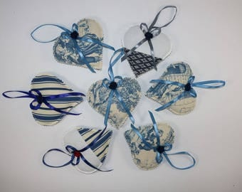 Lavender Hearts Bags-Blue Collection