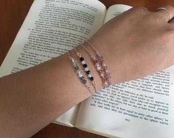 crystal beaded / dainty (one) bracelet.
