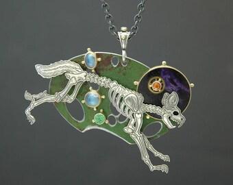 Bony Coyote Necklace