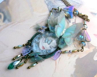 """BAROQUE romantic """"Butterfly Lady"""" necklace"""