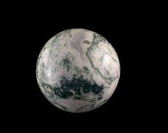 """Moss Agate Sphere 2.2""""  8.8 oz.  A1311"""
