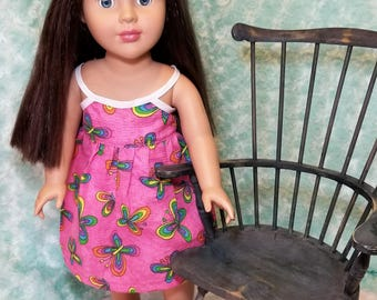 Pink Butterfly Summer Dress - American Girl & Friends