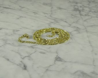 """14K Solid Gold Figaro Neck Chain (24"""")"""