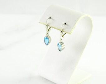 Blue Stone Sterling Pierced Earring