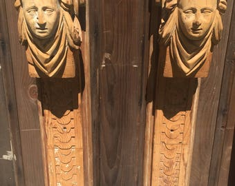 Hand Carved Wood Pillars/Columns/Corbels