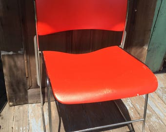 Metal Mid Century Modern Stackable Chairs