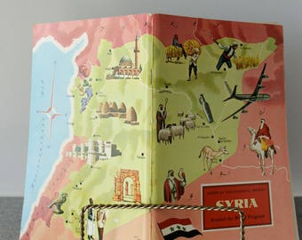 Syria 1971 Travel Booklet American Geographical Society Unused Stickers Included Around the World Travel Guide