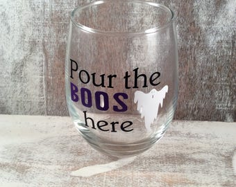 POUR the BOOS here wine glass