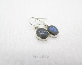 Blue Shine Labradorite Sterling Silver Earrings