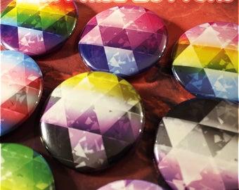 Gem Pride Buttons -  Choose any LGBTQ+ flag!