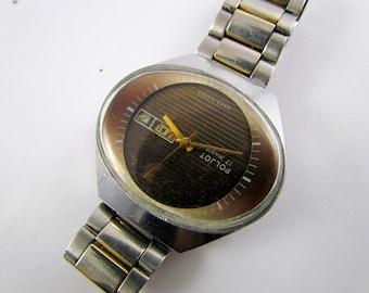 SOVIET POLJOT Stadium USSR rare vintage men's mechanical wristwatch 17jewels