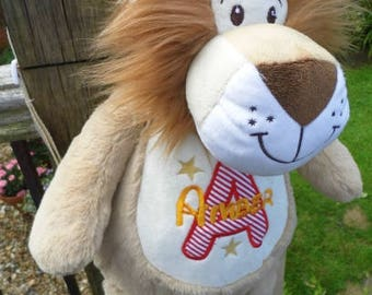 Personalised Lion Backpack, School Bag, Leo, Personalized Bag, any name design embroidery