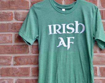 Irish AF tee. St. Patrick's Day shirt. Irish graphic tee. Vintage Irish shirt. Soft St. Paddy's Day shirt. St. Patrick's Day graphic tee.