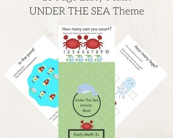 Educational printables , UNDER THE SEA kids games Worksheets Activities