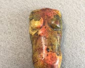 Ava-Fall Colored Polymer Clay Torso Cabochon