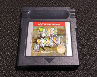 Super Breakout Nintendo Gameboy cartridge video game