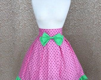 Summer Watermelon Cotton Lolita Skirt
