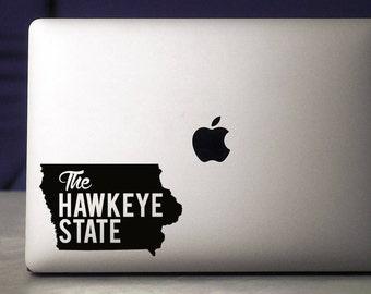 Iowa / Iowa Hawkeyes / Iowa Decal / Iowa Sticker / Hawkeyes / Vinyl Decal / Macbook Decal / Laptop Decal / Iowa State / Macbook Sticker