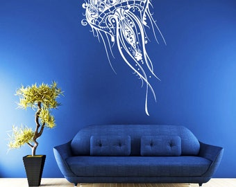 rta16 Jellyfish Animals Water Deep Sea World Ocean Nursery Bedroom Living room Wall Decal Vinyl Decor Sticker Art Decor