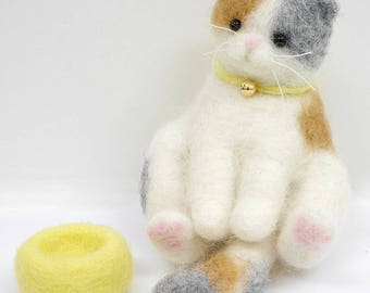 Needle Felting Kit Scottish Cat  By Sunfelt  Felting Needle Kit
