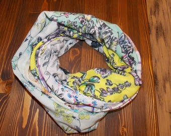 Cotton patchwork scarf
