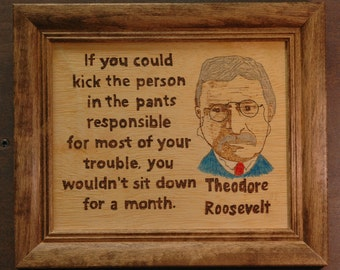 Theodore (Teddy) Roosevelt  portrait and quote
